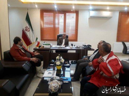 جلسه ساماندهی کمک های مردمی شهرستان رامیان به سیل زدگان استان گلستان برگزارگردید