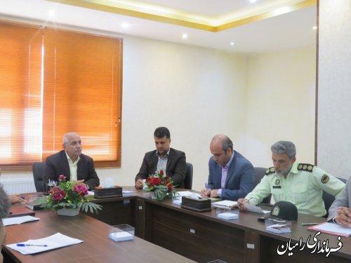 دومین جلسه شورای فرعی مبارزه با مواد مخدر شهرستان رامیان در سال 98 برگزارگردید