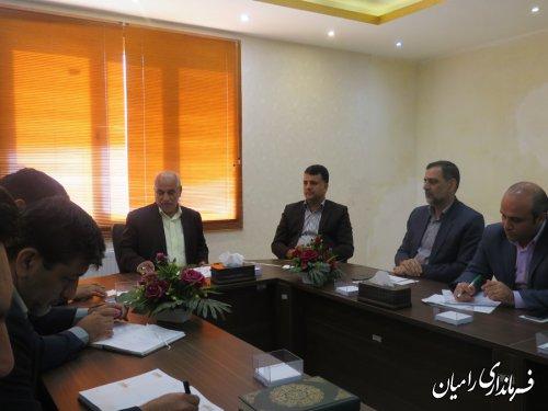 جلسه هماهنگی بزرگداشت سوم خرداد سالرور حماسه آزادسازی خرمشهر شهرستان رامیان برگزارگردید.