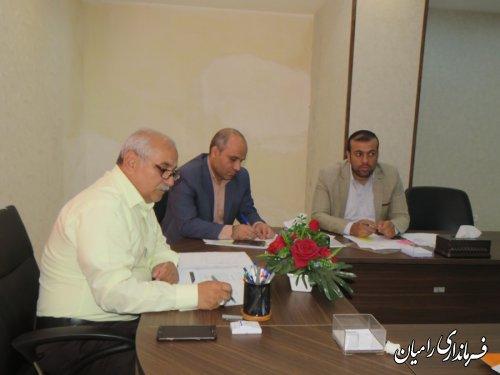 جلسه برنامه ریزی برای شروع عملیات اجرایی 4 واحدی رامیان برای خانواده های دو معلول در شهرستان رامیان برگزار گردید