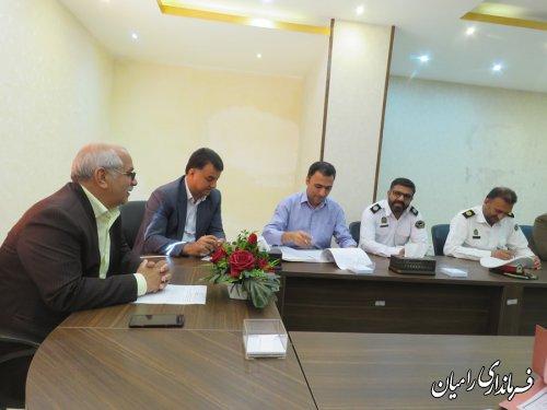 جلسه شورای ترافیک شهرستان رامیان برگزار گردید