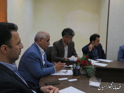 دومین جلسه مدیریت جامع حوزه آبخیز قره چای رامیان ( دومین پایلوت استان گلستان )برگزار گردید