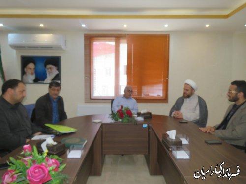 دیدار مدیر دفتر نمایندگی آستان قدس رضوی در استان گلستان با فرماندار رامیان