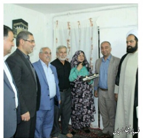 دیدار فرماندار رامیان با مادران گرامی شهیدان والامقام اخلی،خاندوزی وسوخته سرایی در بخش فندرسک رامیان