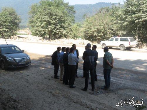 بازدید معاون فرماندار رامیان از جاده مواصلاتی رامیان به شاهرود(النگ)