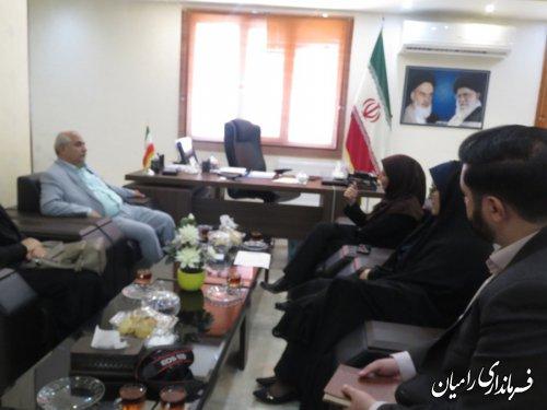دیدار مدیرکل کانون پرورش فکری کودکان ونوجوانان استان گلستان با فرماندار رامیان
