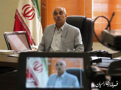 مصاحبه فرماندار رامیان با برنامه در استان صداوسیما مرکز گلستان با موضوع پیگیری بیمارستان رامیان  برگزار گردید
