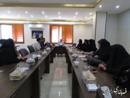 جلسه هم اندیشی رئیس مرکز فنی و حرفه ای و مدیران آموزشگاه آزاد شهرستان رامیان با فرماندار رامیان