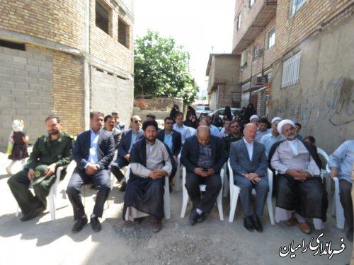 مراسم کلنگ زنی جهت احداث ساختمان جامعه القرآن الکریم رامیان برگزار گردید