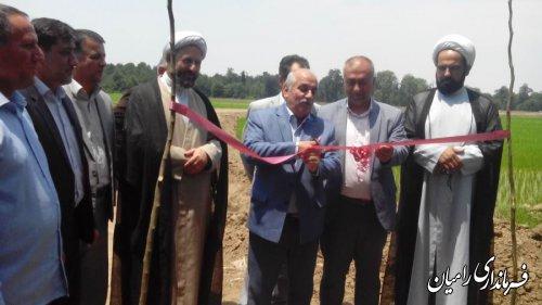 مراسم افتتاح پروژه تجهیز ونوسازی نسق شالیزاری سفید چشمه بخش مرکزی رامیان برگزار گردید