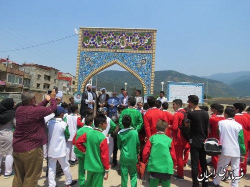 حضور ورزشکاران اعزامی به المپیاد ورزشی استانی از  شهرستان رامیان در گلزار شهداء گمنام شهرستان رامیان
