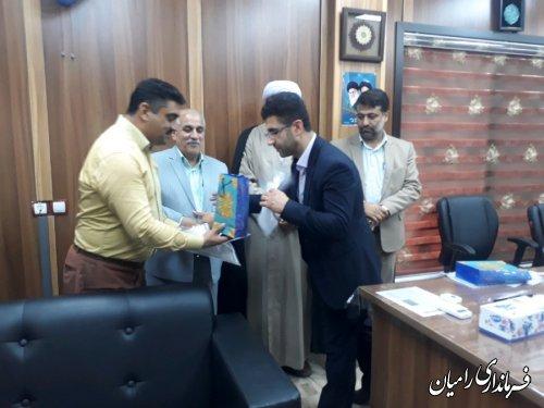 مراسم بزرگداشت هفته قوه قضائیه با حضور فرماندار رامیان در شهرداری دلند برگزار گردید
