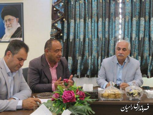جلسه شورای هماهنگی پدافند غیرعامل شهرستان رامیان  برگزار گردید