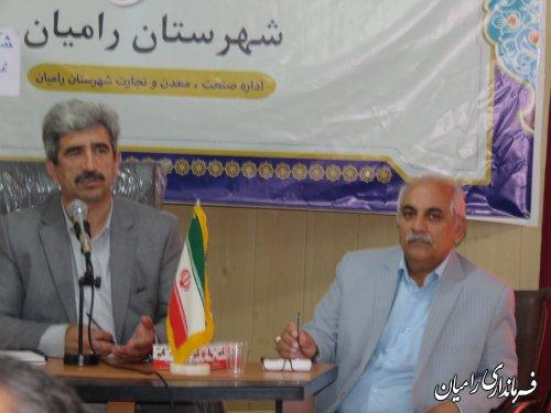 نشست فعالان اقتصادی شهرستان رامیان روزپنجشنبه ۶تیرماه ۹۸ برگزار گردید
