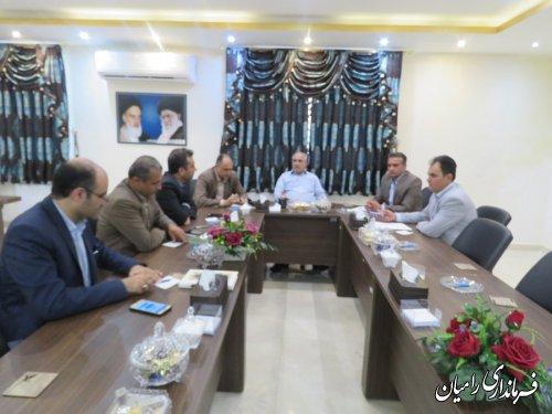 دیدار مدیرعامل شرکت توزیع نیروی برق استان گلستان با فرماندار رامیان