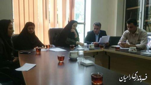 جلسه کمیته تخصصی ستاد مناسب سازی مبلمان شهری شهر رامیان برگزار گردید
