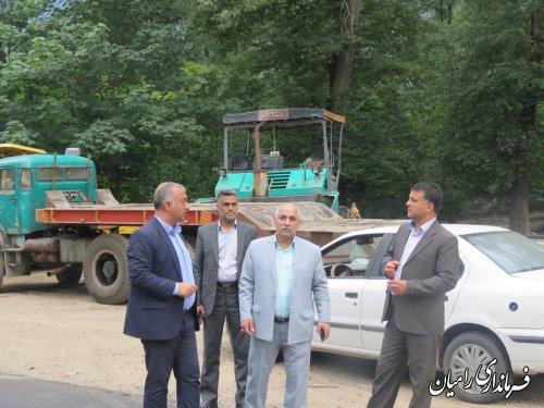 بازدید فرماندار رامیان از روند اجرایی پروژه روکش آسفالت راه روستایی جاده روستای شیرآباد