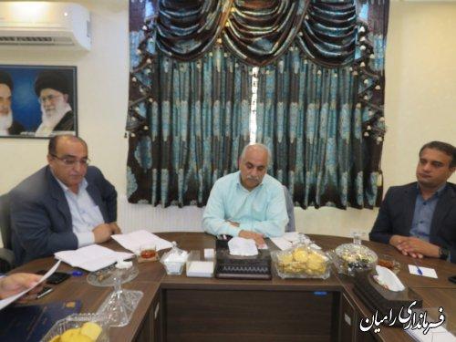 جلسه بررسی وضعیت روستای رانشی کشکک رامیان برگزار گردید