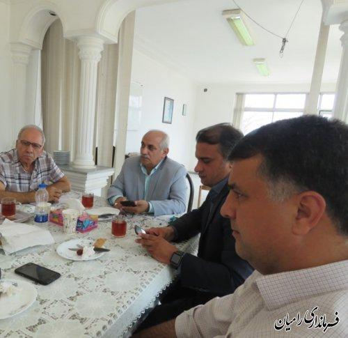 جلسه کارگروه اشتغال و رفع موانع تولید شهرستان رامیان برگزار گردید