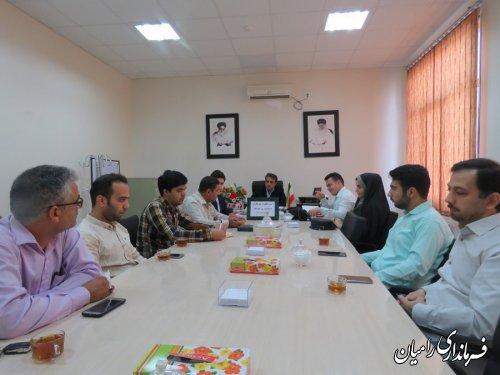 آئین تجلیل از خبرنگاران به مناسبت روز خبرنگار در فرمانداری رامیان برگزار گردید