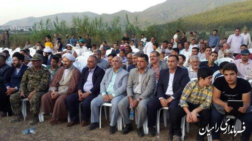 حضور فرماندار رامیان در مراسم عملیات بزرگ بازسازی فرهنگی واقعه عظیم غدیر خم  درشهرستان رامیان