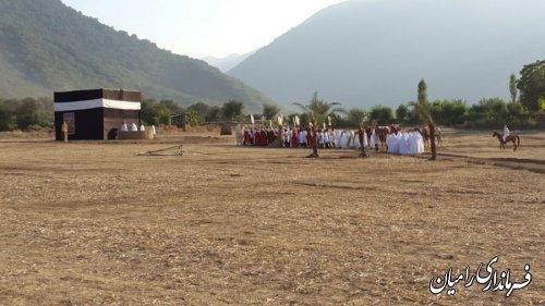 نمایش بازسازی واقعه عظیم غدیر خم در شهرستان رامیان