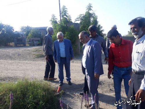 بازدید فرماندار رامیان از روستاهای بخش مرکزی رامیان