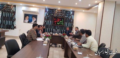 حضور مدیریت فناوری اطلاعات و شبکه دولت استانداری در ستاد انتخابات شهرستان رامیان