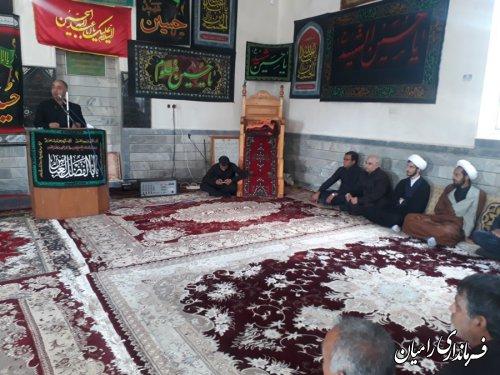حضور فرماندار شهرستان رامیان در مراسم عزاداری تاسوعای حسینی روستای سید احمد خمینی (ره) بخش مرکزی شهرستان رامیان