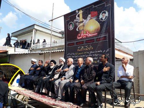 حضور سرکنسولگر کشور قزاقستان در مراسم عزاداری ابا عبدالله الحسین (ع) در شهرستان رامیان