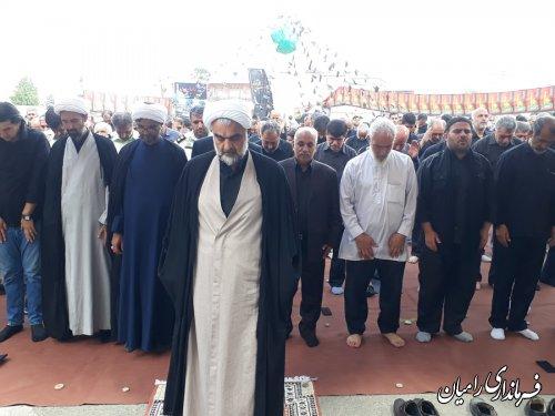 نماز ظهر عاشورا با حضور فرماندار رامیان در میدان امام علی (ع) شهر رامیان اقامه گردید