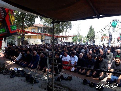 نماز ظهر عاشورا در میدان امام علی (ع) شهر رامیان اقامه گردید