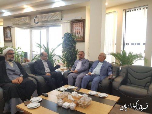 فرماندار رامیان پیرامون  مسائل ومشکلات شهرستان با استاندار گلستان دیدار کردند