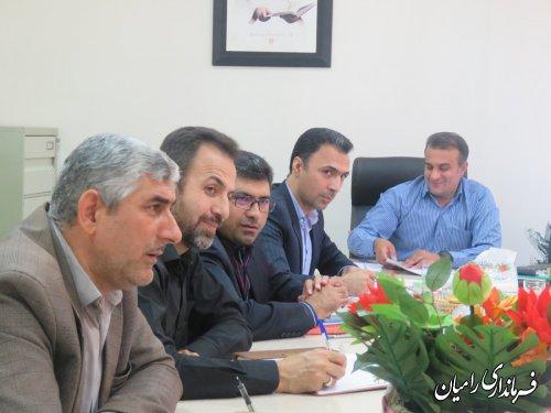 جلسه مدیریت بحران شهرستان رامیان برگزار گردید