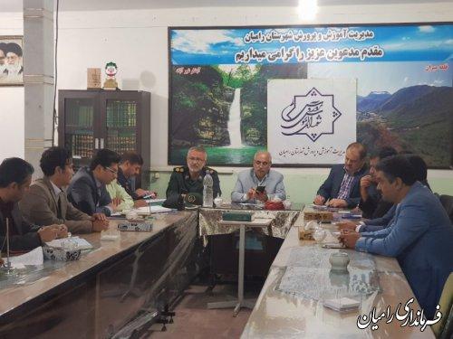 جلسه شورای آموزش وپرورش شهرستان رامیان برگزار گردید