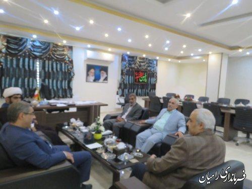 دیدار مدیرکل انتقال خون استان گلستان با فرماندار رامیان