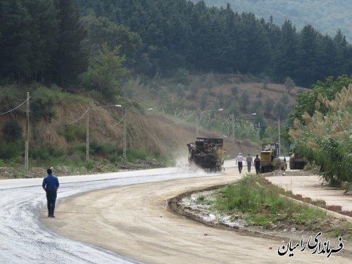 آغاز عملیات قیر پاشی جاده مواصلاتی رامیان به شاهرود (النگ)