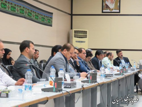 پنجمین جلسه شورای اداری شهرستان رامیان برگزار گردید
