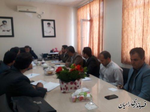 جلسه کارگروه ارتباطات وفناوری اطلاعات شهرستان رامیان برگزار گردید
