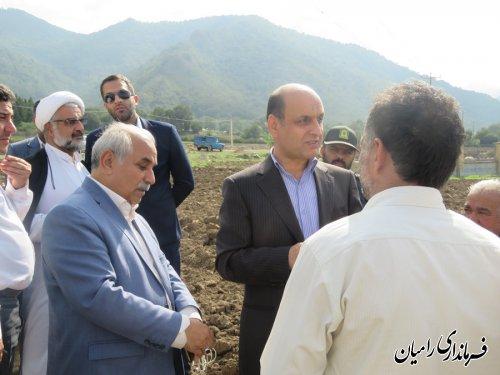 حضور دکتر حق شناس استاندار گلستان در شهرستان رامیان