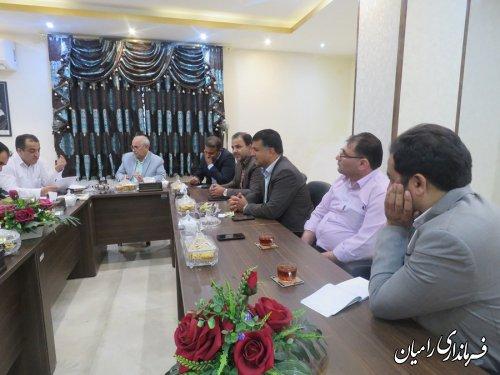 جلسه ستاد انتخابات مرکز حوزه انتخابیه رامیان آزادشهر-فندرسک-چشمه ساران  برگزار گردید