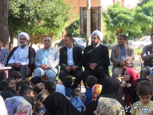 فرماندار رامیان در مراسم سوگواری به مناسبت شهادت مظلومانه حضرت رقیه (س) که درپارک شهر رامیان  برگزار گردید شرکت کردند