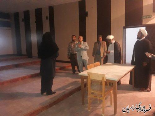 بازدید فرماندار رامیان از کتابخانه عمومی شیخ عبدالحسین جعفری  شهر رامیان