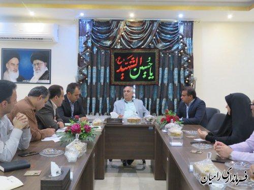 پانزدهمین جلسه ستاد انتخابات مرکز حوزه انتخابیه رامیان آزادشهر-فندرسک-چشمه ساران16 مهرماه 98 به ریاست فرماندار رامیان برگزار گردید.