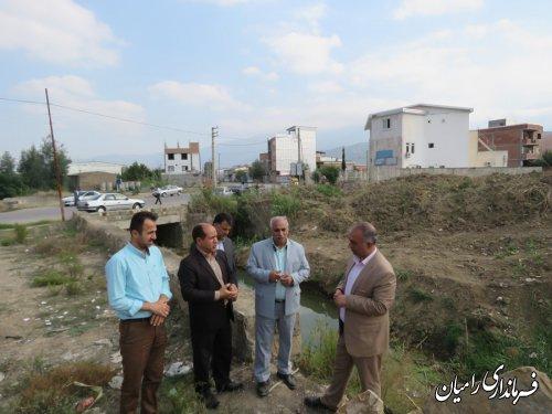 عملیات پروژه لایروبی وساماندهی رودخانه های شهرستان رامیان با حضور فرماندار رامیان آغاز گردید