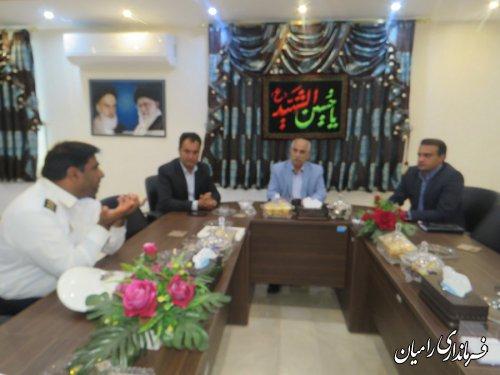 جلسه پیگیری ایمن سازی جاده های روستایی شهرستان رامیان برگزار گردید