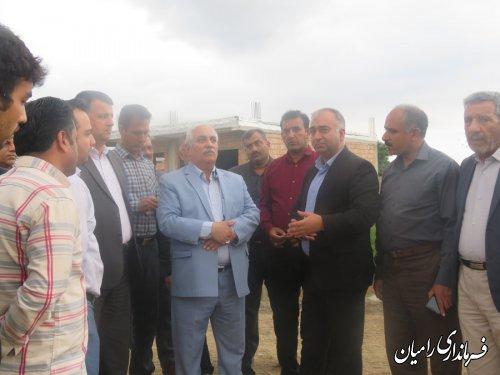 بازدید فرماندار رامیان از روستای بلوچ آباد گردایش بخش فندرسک