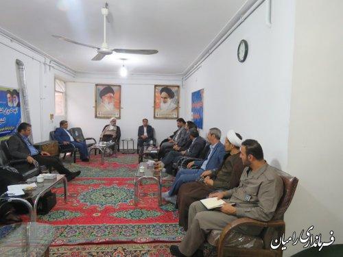 جلسه فرهنگ عمومی شهرستان رامیان برگزار گردید