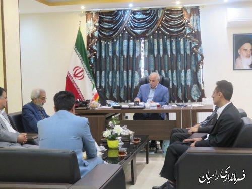 اعضای هیات نظارت شورای نگهبان شهرستان رامیان با فرماندار این شهرستان دیدار کردند