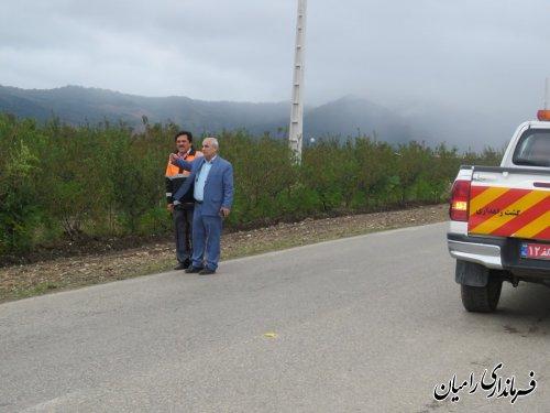 بازدید فرماندار رامیان ازآخرین وضعیت راه های روستایی شهرستان رامیان